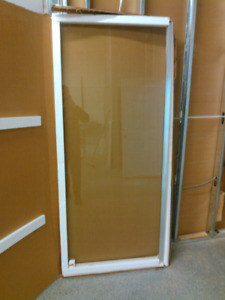 32 x 75 glass shower door with frame