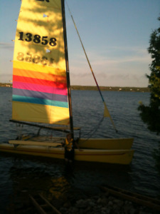 Hobie 18 with wings and trailer