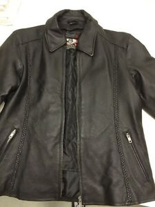 Womans leather bike jacket