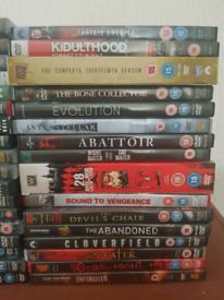 DVDs marvel/horror/action