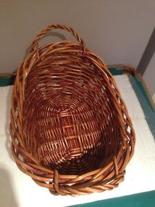 Wicker blanket basket Kitchener / Waterloo Kitchener Area image 2