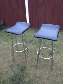 Black bar chairs