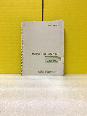 Fluke Model 821a Differential Voltmeter Instruction Manual