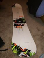 Snowboard and bindings for sale