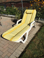 Patio lounger with pad (good condition)