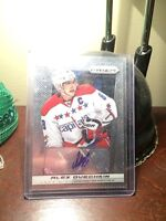 Alex Ovechkin mint condition autographed hockey card