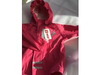Pink Lego Wear Rain Jacket BNWT 18 to 24 months