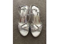 Barrett's kitten heel silver size 2 girls