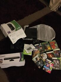 XBOX 360 + KINECT + 1 CONTROLLER + GAMES