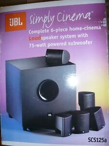 JBL SIMPLY CINEMA 6-PIECE HOME CINEMA SPEAKER SYSTEM WITH 75-WAT