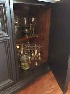 Dining Hutch and Buffet (refinished in modern palette) London Ontario image 3