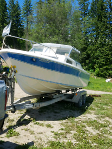 21ft Sangstercraft cabin cruiser, large swim grid, trailer,