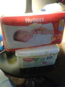 Huggies snuggly 32 and 64 huggies wipes