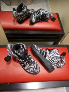 Collector Jeremy Scott Zebra Print Adidas Runners (with tails!)