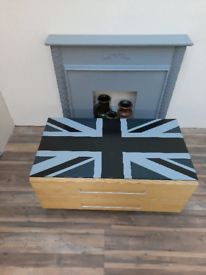 Salvaged,upcycled, Conran, Union Jack sideboard/coffee tBle
