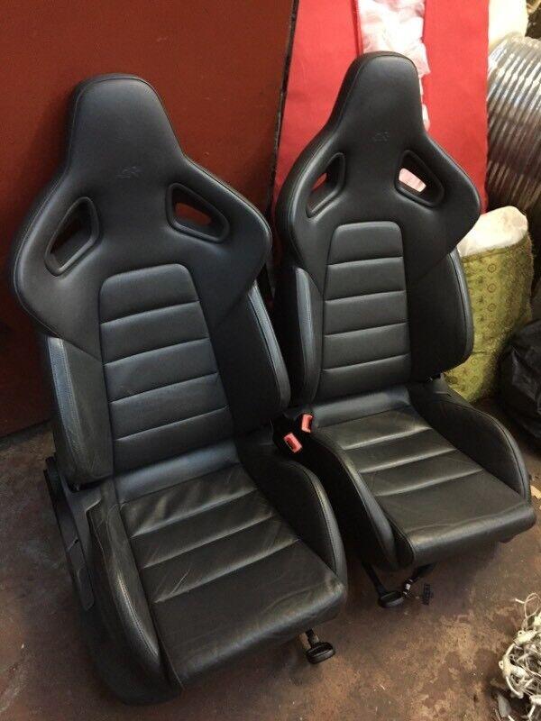 Recaro Wingback Leather Bucket Seats Golf R32 Audi S3 In