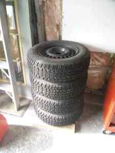 4 - 195 70R14 Studded Winter Tires