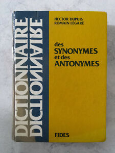 Dictionary French Synonyms and Antonyms