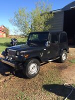 1993 Jeep YJ for parts or repair