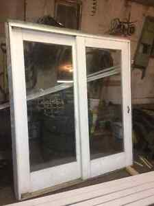 "Sliding Patio Door, Measures 6'8"" Tall by 5'11"" Wide, 2x4 Jamb"