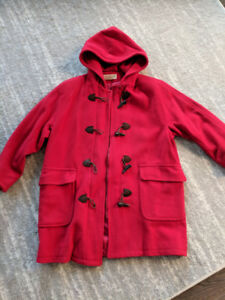 Women's winter coat red - excellent condition size xl