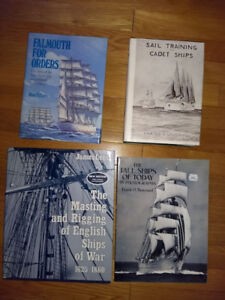 Naval and sailing books (collection of 7 books)