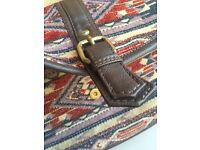 Aztec stitched pattern / design handbag, leather clip accessorize. Used for one week then forgotten!