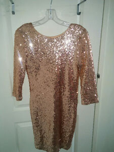 GORGEOUS GOLD PARTY/COCKTAIL/PARTY DRESS