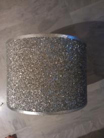 Lampshade Silver Glitter Design