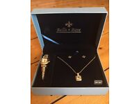 Watch, necklace and earring gift set