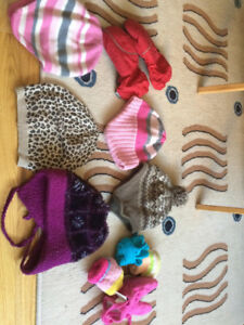 Size 4-6 Girl Winter Hats and gloves
