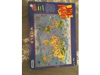 Map of the world jigsaw 250 piece puzzle