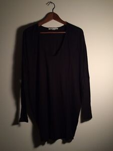 Helmut Lang For Intermix Batwing Sleeve Black Tunic Size S