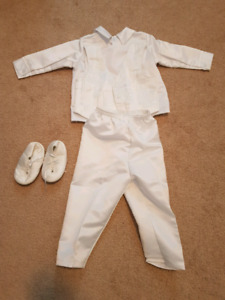 Boy 12 Month Baptism outfit and shoes