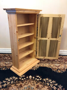 Super Cute Discrete Knotty Pine Whatnot Cabinet SEE VIDEO