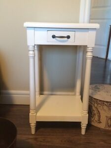 Brand new off white end table