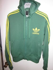 AUTHENTIC MENS ADIDAS HOODY TRACK JACKET