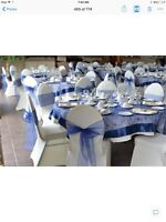 Table overlays and chair sashes