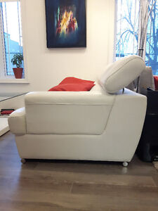 White Italian Leather Couch