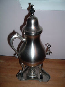 FS: Vintage Coffee Pot with Tray & Oil Holder to Heat Pot