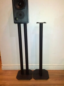 Black Fixed Height Speaker stand