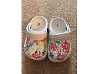 Kids croc style shoes size 4/20 toddler