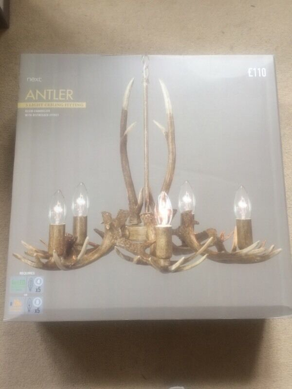 Next antler ceiling light x 2 in glossop derbyshire gumtree next antler ceiling light x 2 mozeypictures Choice Image
