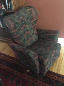 Reclining rocking chair with foot rest