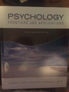 Psychology: Frontiers and Applications (3rd Canadian Edition) Kitchener / Waterloo Kitchener Area image 1
