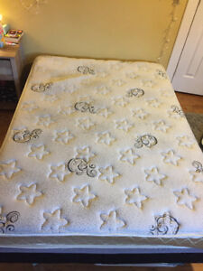 Double Bed: Mattress, Box Spring, Frame included