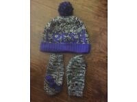 Boys river island hat and glove set