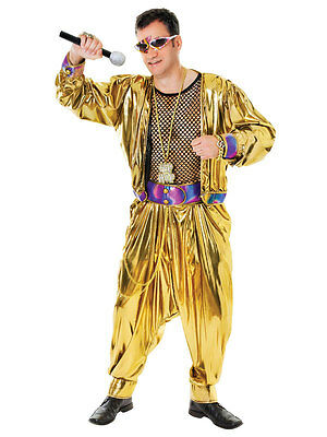MC Hammer Rapper 1980s 90s Fancy Dress Pop Celebrity Singer Gold 80s Rap Costume