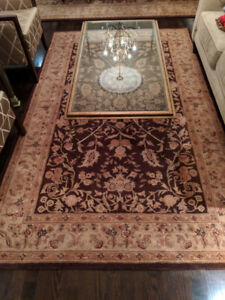 Two Brown Area Rugs (8.5x11 & 5.5x8.5) - Nourison Heritage Hall