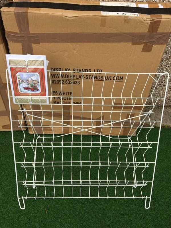 Two Six Tier Card Or Cd Counter Top Display Stand Ideal For Magnificent Craft Fair Display Stands